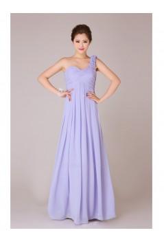 Empire One-Shoulder Long Chiffon Bridesmaid Dresses/Evening Dresses/Maternity Dresses BD010555