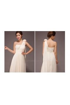 A-Line One-Shoulder Long Chiffon Bridesmaid Dresses/Evening Dresses BD010557