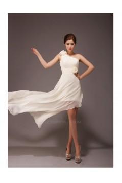 A-Line High Low One-Shoulder Chiffon Bridesmaid Dresses/Evening Dresses BD010558