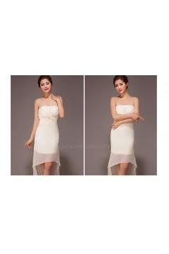 High Low Strapless Chiffon Bridesmaid Dresses/Evening Dresses BD010561