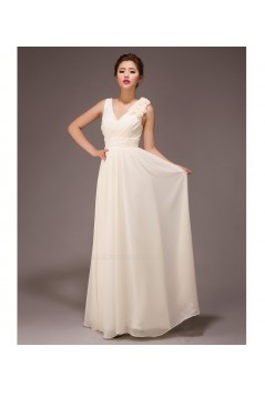 A-Line V-Neck Long Chiffon Bridesmaid Dresses/Evening Dresses BD010562