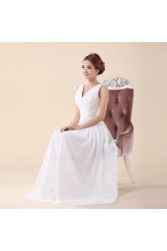 A-Line V-Neck Long Chiffon Bridesmaid Dresses/Evening Dresses BD010587