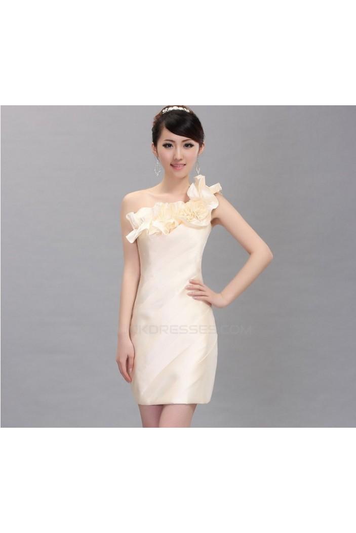 Short/Mini One-Shoulder Bridesmaid Dresses/Cocktail/Homecoming/Evening Dresses BD010596