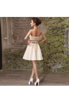 A-Line Strapless Short Bridesmaid Dresses/Evening Dresses BD010597