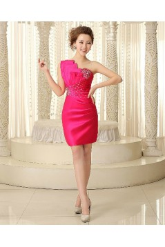 Short/Mini One-Shoulder Beaded Bridesmaid Dresses/Cocktail/Homecoming/Evening Dresses BD010599