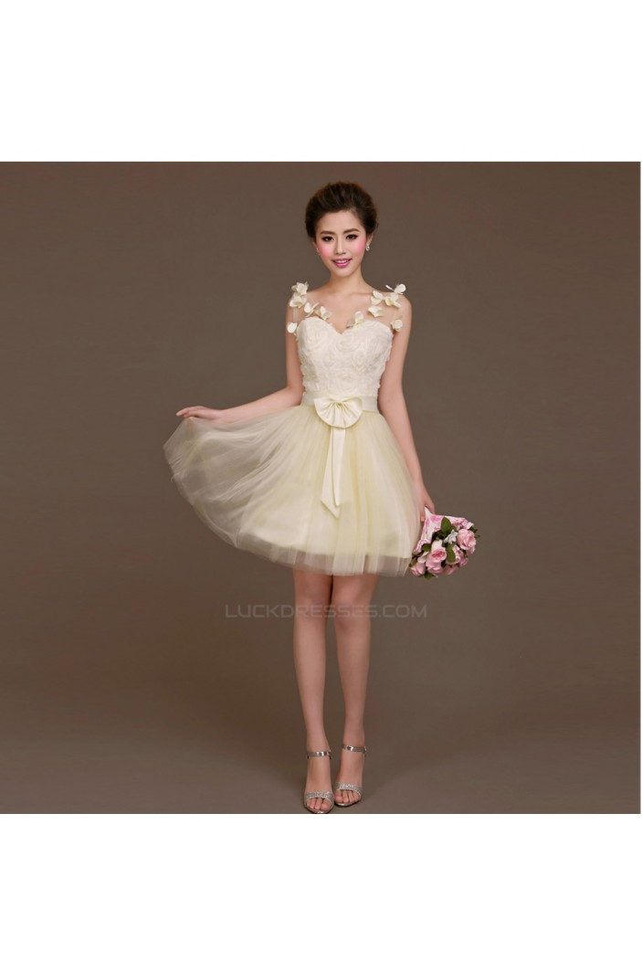 A-Line Short Tulle Bridesmaid Dresses/Evening Dresses BD010620