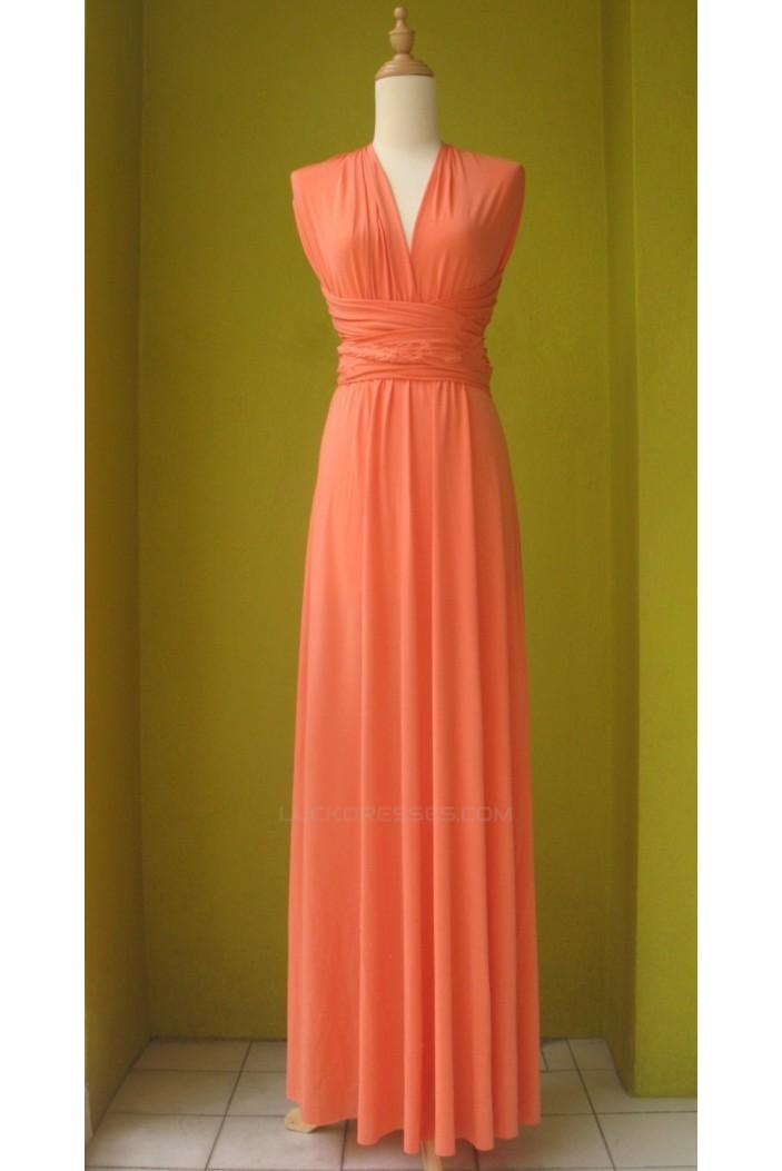 A-Line Long Chiffon Bridesmaid Dresses/Evening Dresses BD010635