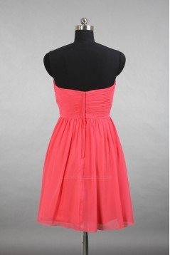 A-Line Sweetheart Short Chiffon Bridesmaid Dresses/Evening Dresses BD010649