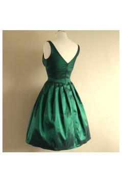 A-Line Short Green Bridesmaid Dresses/Evening Dresses BD010655