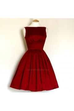 A-Line Bateau Short Red Bridesmaid Dresses/Evening Dresses BD010656