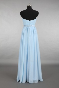 A-Line Strapless Long Blue Chiffon Bridesmaid Dresses/Evening Dresses BD010660