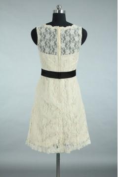 A-Line Short Lace Bridesmaid Dresses/Wedding Party Dresses BD010662