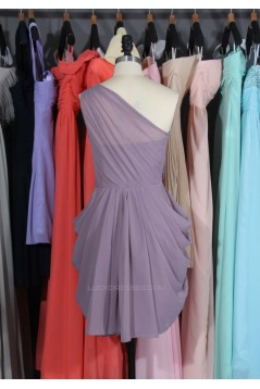 Short One-Shoulder Chiffon Bridesmaid Dresses/Wedding Party Dresses BD010663