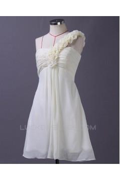 Empire One-Shoulder Short Chiffon Bridesmaid Dresses/Wedding Party Dresses BD010667
