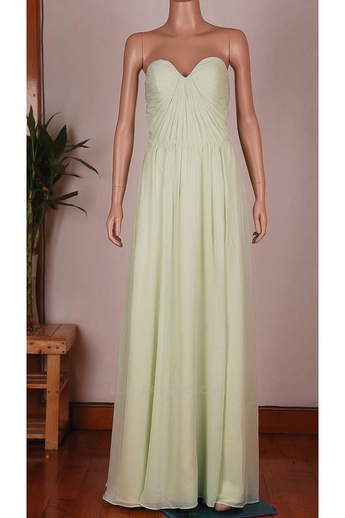 A-Line Sweetheart Long Chiffon Bridesmaid Dresses/Wedding Party Dresses BD010672