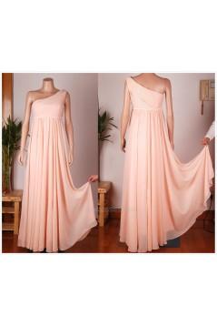 Empire One-Shoulder Long Chiffon Bridesmaid Dresses/Wedding Party Dresses/Maternity Dresses BD010675
