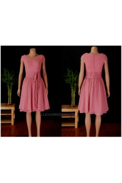A-Line Cap Sleeve Short Chiffon Bridesmaid Dresses/Wedding Party Dresses BD010680