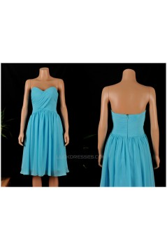 A-Line Sweetheart Short Blue Chiffon Bridesmaid Dresses/Wedding Party Dresses BD010682