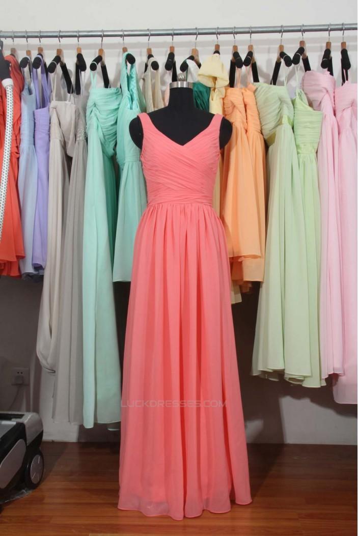 A-Line Long Chiffon Bridesmaid Dresses/Wedding Party Dresses BD010694