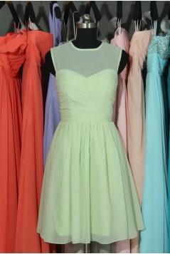 A-Line Short Chiffon Bridesmaid Dresses/Wedding Party Dresses BD010698