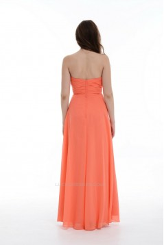 A-Line Sweetheart Long Chiffon Bridesmaid Dresses/Wedding Party Dresses BD010701
