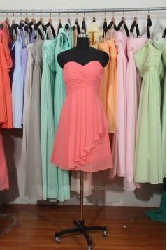 A-Line Sweetheart Short Chiffon Bridesmaid Dresses/Wedding Party Dresses BD010704