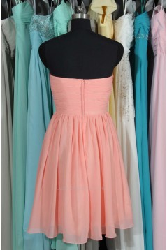 A-Line Short Pink Chiffon Bridesmaid Dresses/Wedding Party Dresses BD010716
