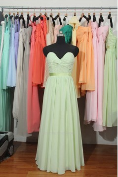 A-Line Sweetheart Long Chiffon Bridesmaid Dresses/Wedding Party Dresses BD010718