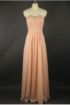 A-Line Sweetheart Long Chiffon Bridesmaid Dresses/Wedding Party Dresses BD010719