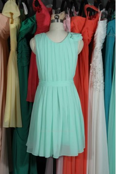 A-Line Pleated Short Chiffon Bridesmaid Dresses/Wedding Party Dresses BD010724