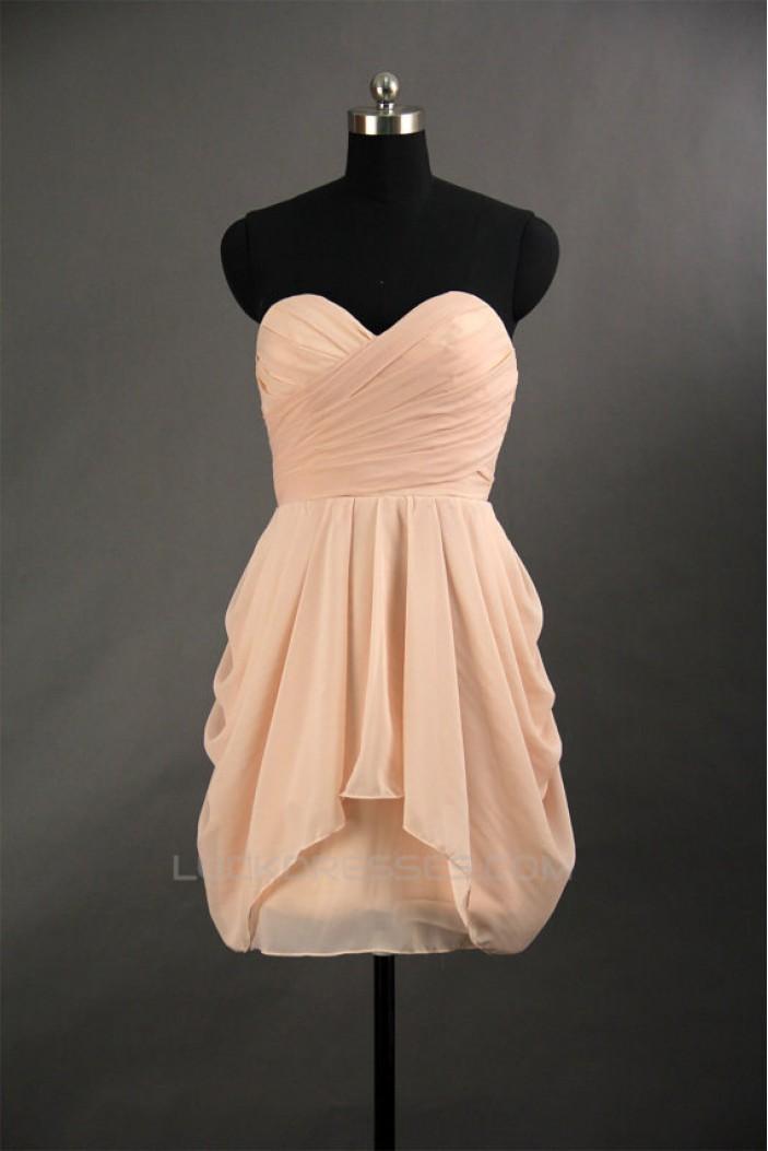 A-Line Sweetheart Short Chiffon Bridesmaid Dresses/Wedding Party Dresses BD010725