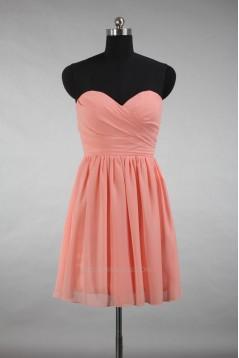 A-Line Sweetheart Short Chiffon Bridesmaid Dresses/Wedding Party Dresses BD010726
