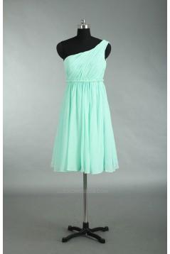 Empire One-Shoulder Chiffon Bridesmaid Dresses/Wedding Party Dresses/Maternity Dresses BD010728