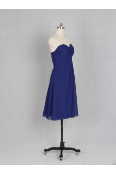 Empire Sweetheart Short Royal Blue Chiffon Bridesmaid Dresses/Wedding Party Dresses BD010733
