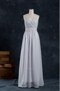 A-Line Spaghetti Strap Long Chiffon Bridesmaid Dresses/Wedding Party Dresses BD010743