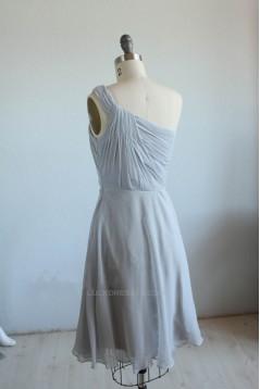 A-Line One-Shoulder Short Chiffon Bridesmaid Dresses/Wedding Party Dresses BD010745
