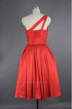 A-Line One-Shoulder Short Bridesmaid Dresses/Wedding Party Dresses BD010750