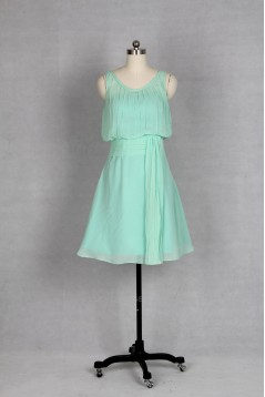 A-Line Short Chiffon Bridesmaid Dresses/Wedding Party Dresses BD010755