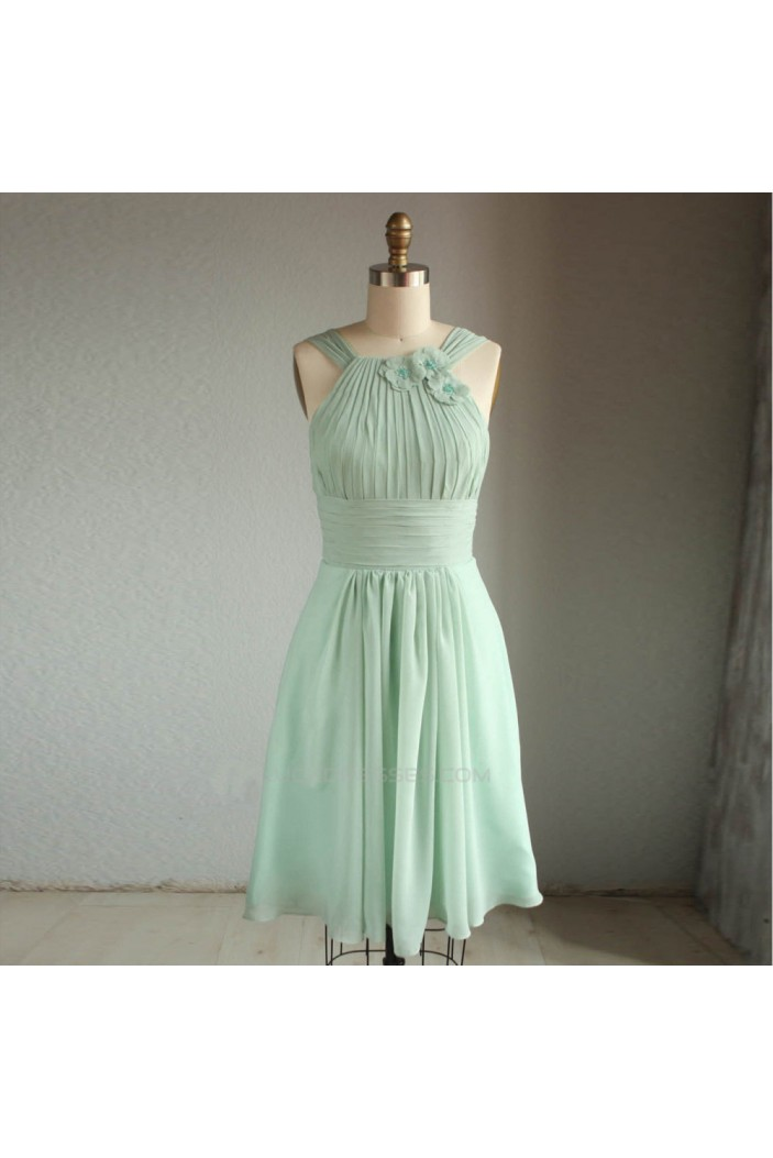 A-Line Short Chiffon Bridesmaid Dresses/Wedding Party Dresses BD010760