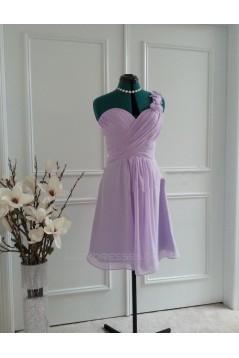 A-Line One-Shoulder Short Chiffon Bridesmaid Dresses/Wedding Party Dresses BD010763