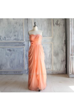 Sheath/Column Sweetheart Long Chiffon Bridesmaid Dresses/Wedding Party Dresses BD010764
