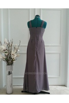 A-Line Long Chiffon Bridesmaid Dresses/Wedding Party Dresses BD010767