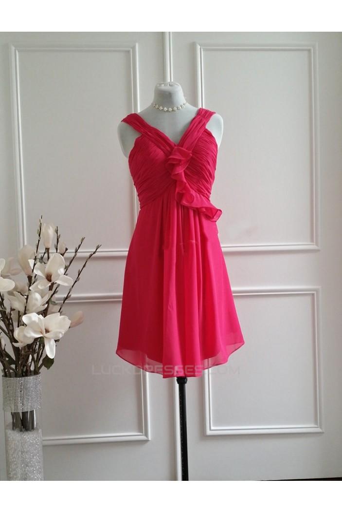 A-Line Short Chiffon Bridesmaid Dresses/Wedding Party Dresses BD010770