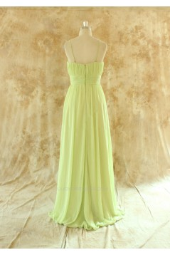 A-Line Spaghetti Strap Long Chiffon Bridesmaid Dresses/Wedding Party Dresses BD010775