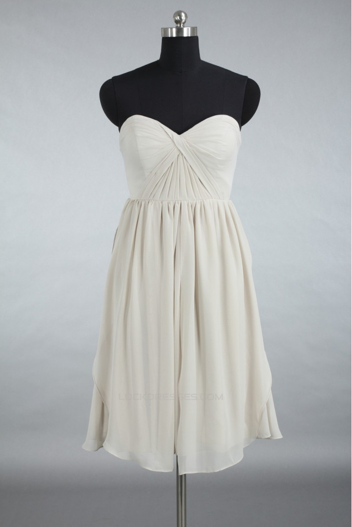 A-Line Sweetheart Short Chiffon Bridesmaid Dresses/Wedding Party Dresses BD010777