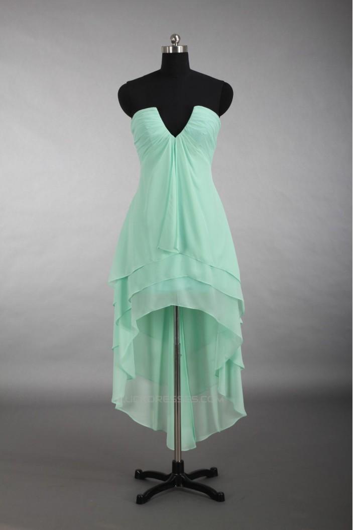 High Low Short Chiffon Bridesmaid Dresses/Wedding Party Dresses BD010779