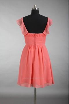 A-Line Short Chiffon Bridesmaid Dresses/Wedding Party Dresses BD010780
