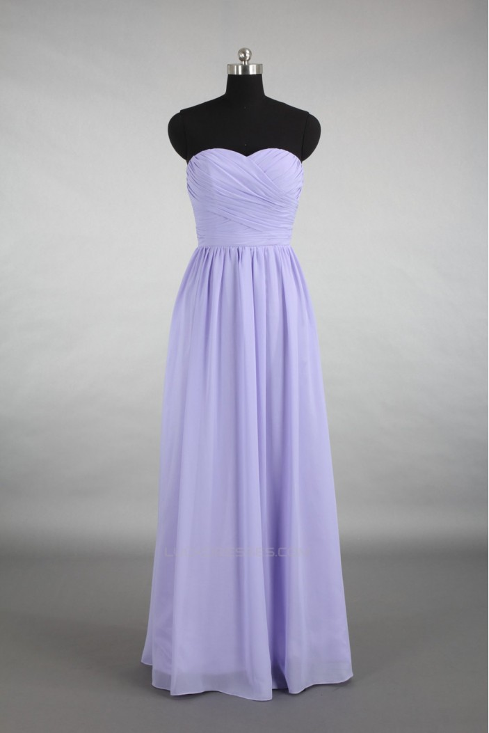 A-Line Sweetheart Long Chiffon Bridesmaid Dresses/Wedding Party Dresses BD010784