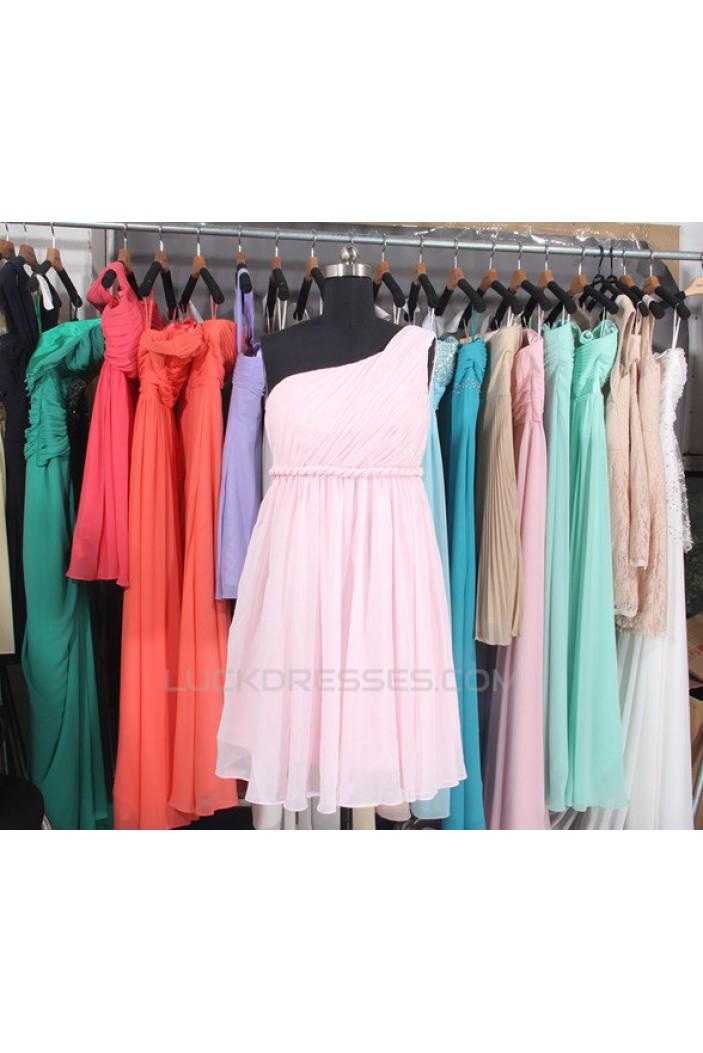 Empire One-Shoulder Short Chiffon Bridesmaid Dresses/Evening Dresses/Maternity Dresses BD010793