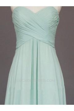 A-Line Sweetheart Long Chiffon Bridesmaid Dresses/Evening Dresses BD010794